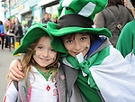 Marcos and Nai Maher pictured at the Dunleer St. Patrick's day parade. Photo: Colin Bell/pressphotos.ie