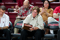 STANFORD, CA - September 2, 2010: Associate Head Coach Denise Corlett during a volleyball match against UC Irvine in Stanford, California. Stanford won 3-0.