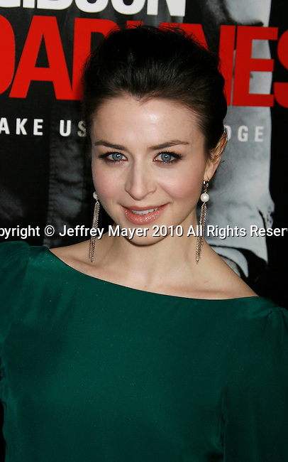 """LOS ANGELES, CA. - January 26: Caterina Scorsone attends the """"Edge Of Darkness"""" Los Angeles Premiere at Grauman's Chinese Theatre on January 26, 2010 in Los Angeles, California."""