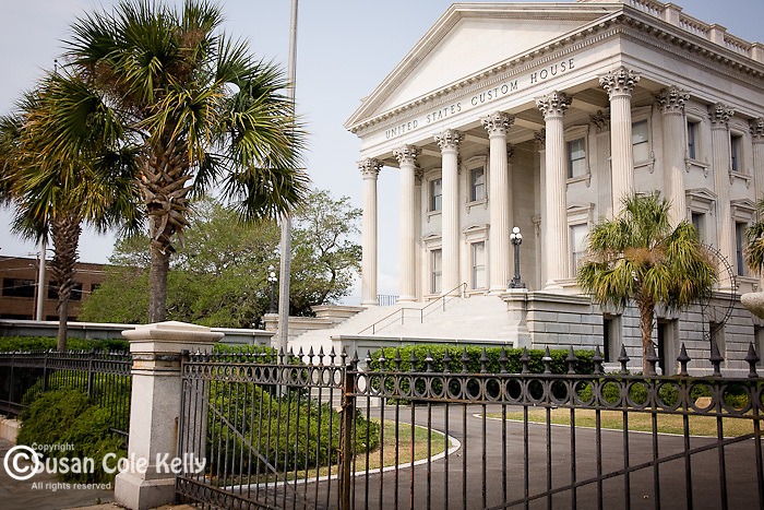 The U.S. Custom House in downtown Charleston, SC, a National Historic Landmark district.