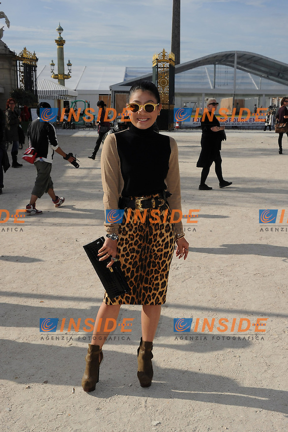 La principessa di Thailandia Siriwanwaree Nareerat  .Parigi 1/10/2012.Parigi Fashion Week. Ospiti alla sfilata di Chloe.Foto Lionel Urman / Panoramic / Insidefoto.ITALY ONLY