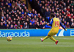 Arsenal's Santi Cazorla scoring his sides opening goal<br /> <br /> Barclays Premier League - Crystal Palace  vs Arsenal  - Selhurst Park - England - 21st February 2015 - Picture David Klein/Sportimage