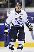 QMJHL (LHJMQ) hockey profile photo on Rimouski Oceanic Peter Trainor October 6, 2012 at the Colisee Pepsi in Quebec city.