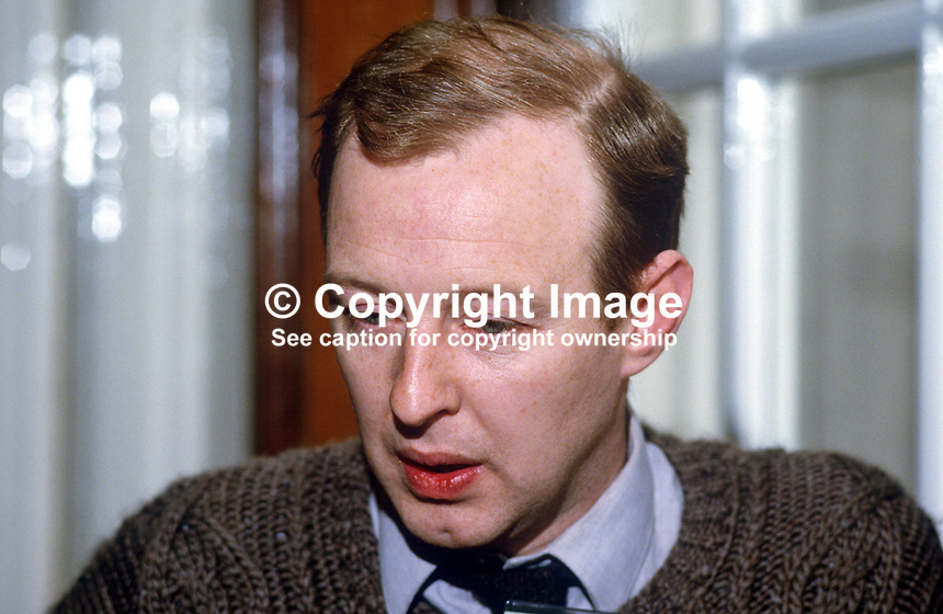 Joe Austin, Belfast, N Ireland, prominent member, Provisional Sinn Fein, 19850514JA1..Copyright Image from Victor Patterson, 54 Dorchester Park, Belfast, UK, BT9 6RJ..Tel: +44 28 9066 1296.Mob: +44 7802 353836.Voicemail +44 20 8816 7153.Skype: victorpattersonbelfast.Email: victorpatterson@me.com.Email: victorpatterson@ireland.com (back-up)..IMPORTANT: If you wish to use this image or any other of my images please go to www.victorpatterson.com and click on the Terms & Conditions. Then contact me by email or phone with the reference number(s) of the image(s) concerned.
