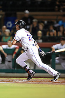 Scottsdale Scorpions outfielder Brandon Nimmo (27) during an Arizona Fall League game against the Salt River Rafters on October 8, 2014 at Scottsdale Stadium in Scottsdale, Arizona.  Salt River defeated Scottsdale 6-3.  (Mike Janes/Four Seam Images)