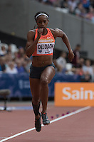 Janay DELOACH of USA competes in the Long Jump during the Sainsbury's Anniversary Games, Athletics event at the Olympic Park, London, England on 25 July 2015. Photo by Andy Rowland.