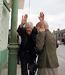 Rev. Turlough Connolly from Dunleer in Co.Louth with his hads up after the DPP case against him for assault against Geraldine O'Neill was settled by baristors before it came in front of the Justice in Dunleer District Court. The Solicator told the Judge Flan Brennan that the case was settled with a considerable sum of money being handed over from Rev Connolly to Mrs Geraldine O'Nelill..Pic Fran Caffrey/ Newsfile