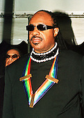 Stevie Wonder arrives at the White House in Washington, D.C. on December 5 1999 to receive one of the 1999 Kennedy Center honors..Credit: Ron Sachs / CNP