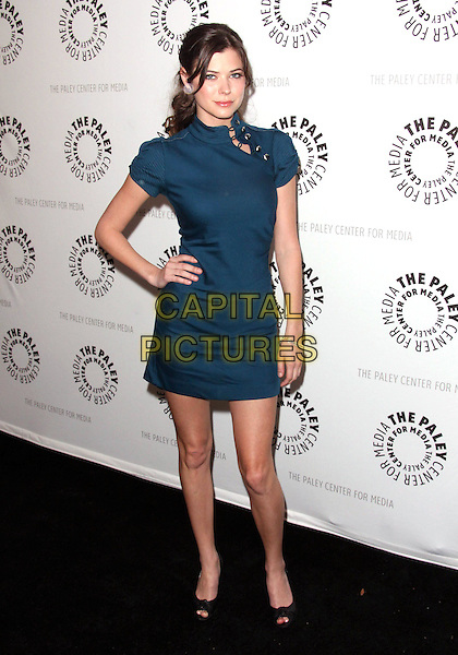 "PAYTON LIST .7th Annual Paley Fest - ""FlashForward""  held at the Saban Theatre,  Beverly Hills, California, USA, 11th March 2010..full length dress hand on hip pep toe shoes black blue high neck collar .CAP/ADM/TC.©T.Conrad/Admedia/Capital Pictures"