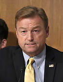 "United States Senator Dean Heller (Republican of Nevada) makes remarks during the US Senate Committee on Finance ""Hearing to Consider the Graham-Cassidy-Heller-Johnson Proposal"" on the repeal and replace of the Affordable Care Act (ACA) also known as ""ObamaCare"" in Washington, DC on Monday, September 25, 2017.  Heller is one of the co-sponsors of the bill.<br /> Credit: Ron Sachs / CNP"