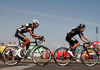 Alex Marentes  and Rigoberto UranIran  riders during  the first stage of 96° Giro d''italia cycling race in Naples . NAPOLI 04/05/2013 PRIMA TAPPA  CIRCUITO NAPOLI 968 GIRO D'ITALIA