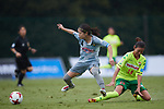 (L to R) <br /> Yui Hasegawa (Beleza), <br /> Shoko Chino (JEF United Chiba Ladies) , <br /> SEPTEMBER 17, 2017 - Football / Soccer : <br /> 2017 Plenus Nadeshiko League Division 1 match <br /> between JEF United Ichihara Chiba Ladies 0-1 NTV Beleza <br /> at Frontier Soccer Field in Chiba, Japan. <br /> (Photo by AFLO SPORT)