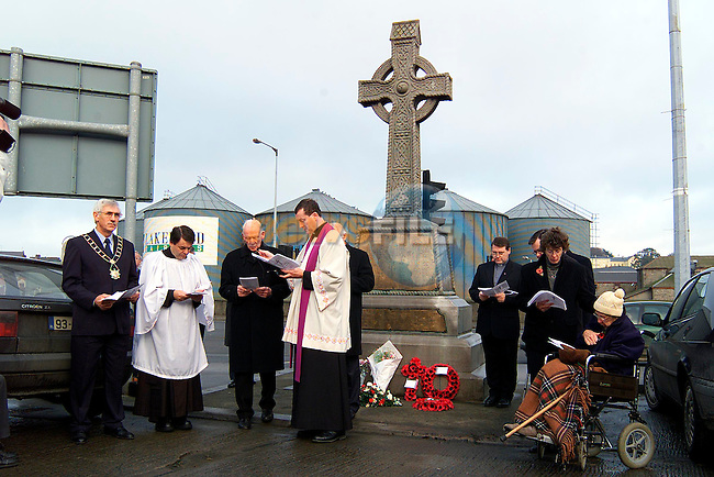 Part of the clergy at the Cenotaph Ceremony..Picture: Paul Mohan/Newsfile