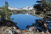 Courtesy photo/JIM WARNOCK<br /> Backpackers see an array of mountain lakes at all elevations on a 210-mile through-hike. Jim Warnock of Alma and Bob Cable of Fayetteville spent 23 days hiking the whole John Muir Trail.