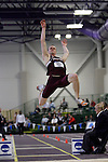 11 MAR 2011: Kevin Coyle of Springfield College long jumps during the the Division III Men's and Women's Indoor Track and Field Championships held at the Capital Center Fieldhouse on the Capital University campus in Columbus, OH.  Jay LaPrete/NCAA Photos