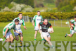Jerome Flynn Milltown-Castlemaine in action against Bryan Costello Saint Brendans in the First Round of the Kerry Senior Football Championship at Milltown on Sunday.