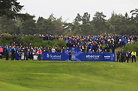 Celine Boutier of Team Europe on the 2nd tee during Day 2 Fourball at the Solheim Cup 2019, Gleneagles Golf CLub, Auchterarder, Perthshire, Scotland. 14/09/2019.<br /> Picture Thos Caffrey / Golffile.ie<br /> <br /> All photo usage must carry mandatory copyright credit (© Golffile | Thos Caffrey)