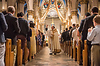 April 15, 2017; Easter Vigil mass presided by Rev. Peter D. Rocca, C.S.C., in the Basilica of the Sacred Heart. (Photo by Barbara Johnston/University of Notre Dame)