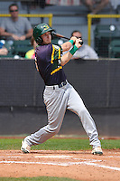 Beloit Snappers Michael Martin (6) swings during the Midwest League game against the Clinton LumberKings at Ashford University Field on June 12, 2016 in Clinton, Iowa.  The LumberKings won 1-0.  (Dennis Hubbard/Four Seam Images)