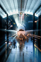"""Shuttle Glow"" by Art Harman. NASA space shuttle Discovery in her home at the Udvar-Hazy Smithsonian Air and Space Museum"