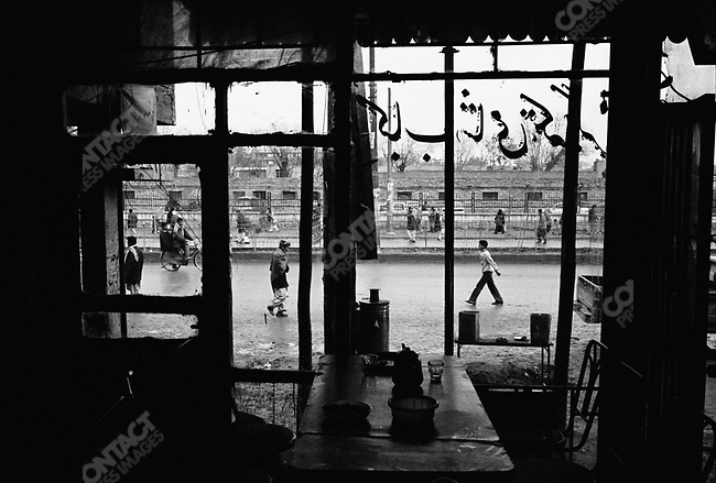 A restaurant in the centre of Kabul, Afghanistan, March 2006
