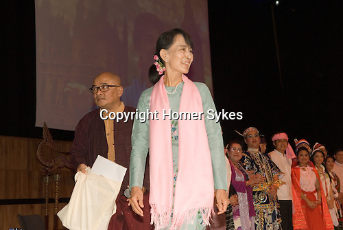 Daw Aung San Suu Kyi. Meeting with the people of Burma at the Royal Festival Hall London UK 22 June 2012