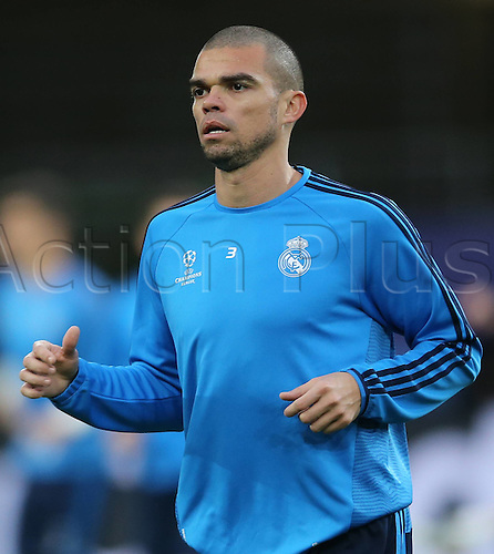 05.04.2016. Wolfsburg, Germany. <br /> Pepe Real Madrid during at a training session at the Volkswagen Arena in Wolfsburg, Germany, 05 April 2016. Real Madrid will face VfL Wolfsburg in a UEFA Champions League quarter final soccer match to be held on 06 April.