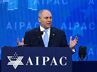 Washington, DC - March 6, 2018: U.S. Representative Steve Scalise speaks during the 2018 American Israel Public Affairs Committee (AIPAC) Policy Conference at the Washington Convention Center March 6, 2018.  (Photo by Don Baxter/Media Images International)