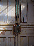ENGLAND, Brighton, an Old Door with a Mirror