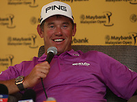 Lee Westwood (ENG) expressed how happy he was to be back playing the 2014 Maybank Malaysian Open at the Kuala Lumpur Golf & Country Club, Kuala Lumpur, Malaysia. Picture:  David Lloyd / www.golffile.ie
