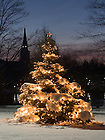 Christmas tree on Holy Cross Hill