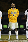 11 November 2015: Wake Forest's Alec Ferrell. The Wake Forest University Demon Deacons hosted the University of Notre Dame Fighting Irish at Spry Stadium in Winston-Salem, North Carolina an Atlantic Coast Conference Tournament Semifinal game and a 2015 NCAA Division I Men's Soccer match. Notre Dame won the game 1-0 and advanced to the ACC Championship final.