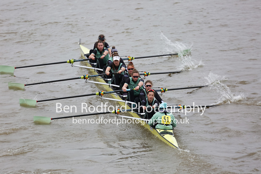Crew: 51   Cambridge University Women   W Elite<br /> <br /> Quintin Head 2018<br /> <br /> To purchase this photo, or to see pricing information for Prints and Downloads, click the blue 'Add to Cart' button at the top-right of the page.