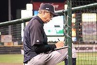September 4, 2009:  Coach Butch Wynegar of the Scranton Wilkes-Barre Yankees during a game at Frontier Field in Rochester, NY.  Scranton is the Triple-A International League affiliate of the New York Yankees and clinched the North Division Title with a victory over Rochester.  Photo By Mike Janes/Four Seam Images