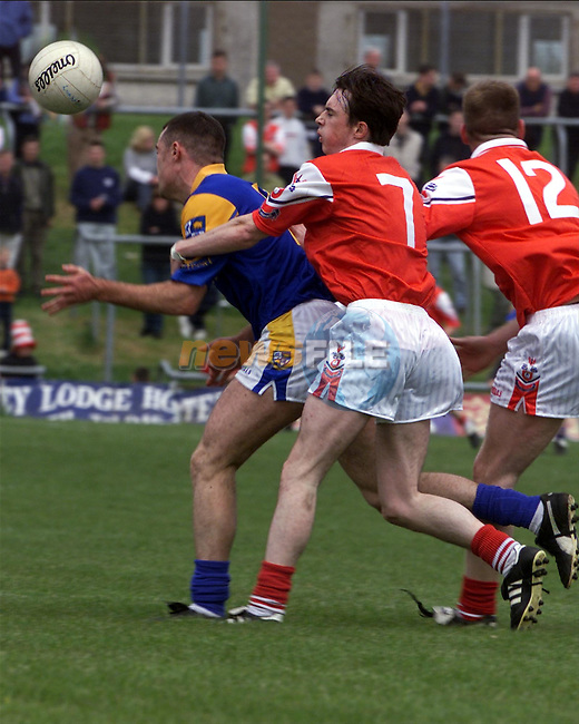 Simon Gerard in action for Louth against Longford..Picture: Arthur Carron/Newsfile
