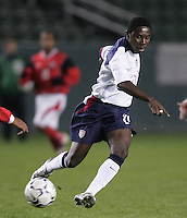 USA's Freddy Adu passes the ball during a USA 6-1 victory over Trinidad, in Carson, Calif., Wednesday Jan. 12, 2004, during the opening round of the Under-20 CONCACAF qualification for the FIFA world championships.