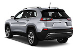 Car pictures of rear three quarter view of a 2018 Jeep Cherokee Limited 5 Door SUV angular rear