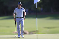 Brandon Stone (RSA) on the 18th during the 1st round of the DP World Tour Championship, Jumeirah Golf Estates, Dubai, United Arab Emirates. 15/11/2018<br /> Picture: Golffile | Fran Caffrey<br /> <br /> <br /> All photo usage must carry mandatory copyright credit (© Golffile | Fran Caffrey)