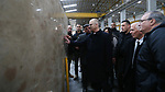 Palestinian Prime Minister Rami Hamdallah visits a stone factory in the West Bank village of Bani Naem, February 16 2019. Hamdallah's tour included visits to stone quarries and factories in the West Bank villages of Bani Naem and Saer near Hebron as well as to Biet Fajjar near Bethlehem. Photo by Prime Minister Office