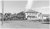D&amp;RGW #481 at the Alamosa depot, blocking State Ave.<br /> D&amp;RGW  Alamosa, CO  Taken by Richardson, Robert W. - 6/16/1950