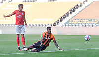 Hull City's Mallik Wilks scores his sides opening goal<br /> <br /> Photographer Dave Howarth/CameraSport<br /> <br /> The EFL Sky Bet League One - Hull City v Crewe Alexandra - Saturday 19th September 2020 - KCOM Stadium - Kingston upon Hull<br /> <br /> World Copyright © 2020 CameraSport. All rights reserved. 43 Linden Ave. Countesthorpe. Leicester. England. LE8 5PG - Tel: +44 (0) 116 277 4147 - admin@camerasport.com - www.camerasport.com