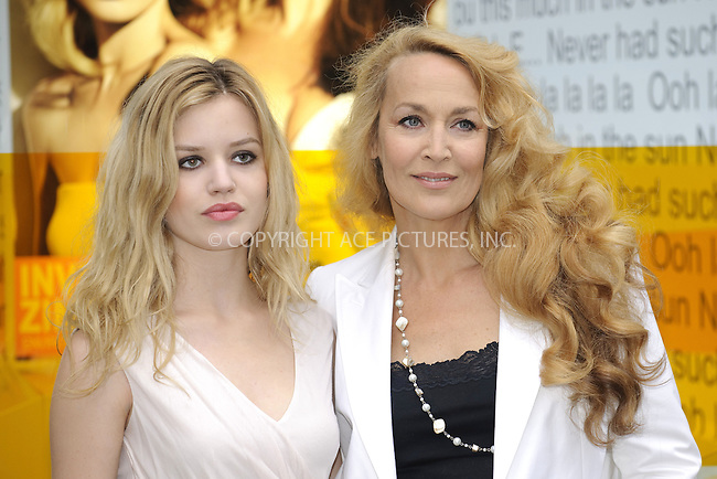 """WWW.ACEPIXS.COM . . . . .  ..... . . . . US SALES ONLY . . . . .....May 27 2010, London....Georgia Jagger and Jerry Hall at the UK launch of Australian sun care brand """"INVISIBLE ZINC"""" at Selfridges in London - 27 May 2010......Please byline: FAMOUS-ACE PICTURES... . . . .  ....Ace Pictures, Inc:  ..tel: (212) 243 8787 or (646) 769 0430..e-mail: info@acepixs.com..web: http://www.acepixs.com"""