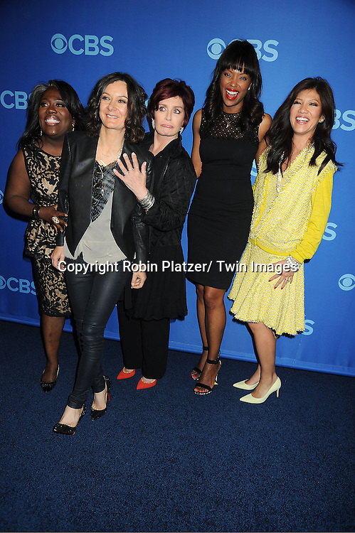 cast of The Talk , Sheryl Underwood, Sara Gilbert, Sharon Osbourne, Aisha Tyler and Julie Chen attend the CBS Prime Time 2013 Upfront on May 15, 2013 at Lincoln Center in New York City.