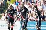 BLOEMENDAAL   - Hockey -  2e wedstrijd halve finale Play Offs heren. Bloemendaal-Amsterdam (2-2) . Teun Rohof (A'dam) .    COPYRIGHT KOEN SUYK