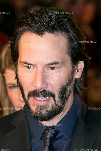 Canadian actor Keanu Reeves attends the Japanese premiere for the film John Wick on September 30, 2015, Tokyo, Japan. The movie will be released in Japanese theatres on October 16. (Photo by Rodrigo Reyes Marin/AFLO)