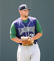 Pitcher Nathan Pettus (30) of the Lexington Legends, a Houston Astros affiliate, before a game against the Greenville Drive on July 22, 2012, at Fluor Field at the West End in Greenville, South Carolina. Lexington won, 13-7. (Tom Priddy/Four Seam Images)