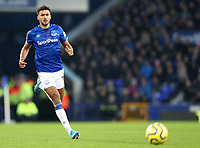 26th December 2019; Goodison Park, Liverpool, Merseyside, England; English Premier League Football, Everton versus Burnley; Dominic Calvert-Lewin of Everton  chases after a through ball  - Strictly Editorial Use Only. No use with unauthorized audio, video, data, fixture lists, club/league logos or 'live' services. Online in-match use limited to 120 images, no video emulation. No use in betting, games or single club/league/player publications