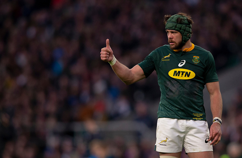South Africa's Warren Whiteley<br /> <br /> Photographer Bob Bradford/CameraSport<br /> <br /> Quilter Internationals - England v South Africa - Saturday 3rd November 2018 - Twickenham Stadium - London<br /> <br /> World Copyright © 2018 CameraSport. All rights reserved. 43 Linden Ave. Countesthorpe. Leicester. England. LE8 5PG - Tel: +44 (0) 116 277 4147 - admin@camerasport.com - www.camerasport.com