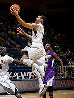 Justin Cobbs of California shoots the ball during the game against SFSU at Haas Paviliion in Berkeley, California on November 6th, 2012.  California defeated San Francisco State, 89-80.
