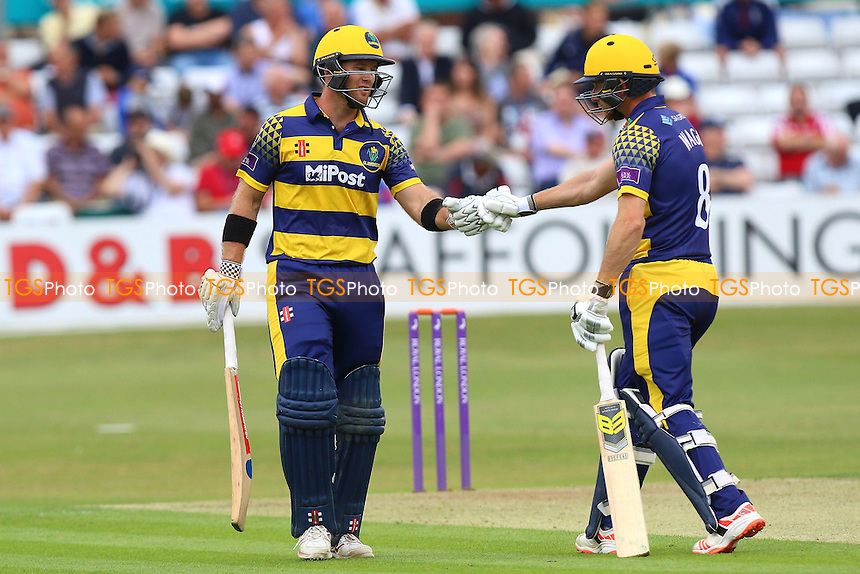 Glamorgan batsmen Colin Ingram (L) and Graham Wagg during Essex Eagles vs Glamorgan, Royal London One-Day Cup Cricket at the Essex County Ground on 26th July 2016